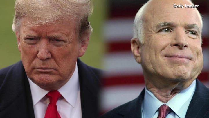 "President Trump's former White House communications director is calling the president's attacks on late Sen. John McCain ""stupid."""