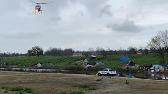 A man jumped into St. John's River Thursday morning to avoid arrest. Law enforcement officers are searching the river.