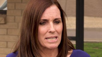 Sen. Martha McSally says the late John McCain 'is an American hero.' And Mr. Trump heard her comments about his tweets.