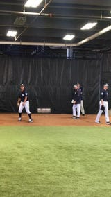 Gio Gonzalez throws his first bullpen in Yankees camp.