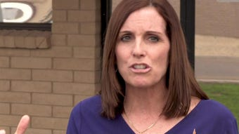 U.S. Sen. Martha McSally addresses media at Luke A.F.B about her goal to eliminate sexual assault and sexual harassment in the U. S. Armed Forces.