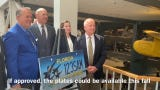 Proposed Florida Blue Angels license plates are unveiled at the National Naval Aviation Museum