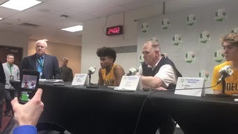 Moeller High School senior and West Virginia commit Miles McBride discusses his mindset after last year's loss going into this year's state semifinal.