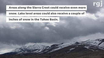 Unsettled weather will drop snow and rain in the Reno region through Saturday, with another storm on its way for next Tuesday as well.