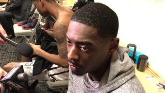 Mississippi State senior forward Aric Holman discusses tournament loss to Liberty.