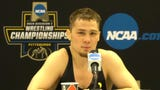 Iowa's Spencer Lee reacts after winning his second straight national title.