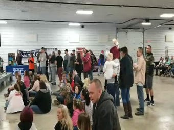 The Veteran's building was packed Saturday afternoon during a recovery event sponsored by Recovery Nation Apparel and Muskingum Behavioral Health.