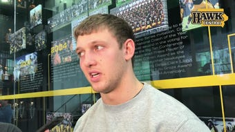 Former Iowa tight end T.J. Hockenson has been discussed as a possible top-10 pick in the NFL Draft.