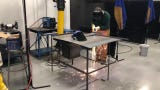 Students practice cuts during an AWS MIG welding class at Raritan Valley Community College in Branchburg.
