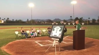Horizon brought back coach Eric Kibler to retire his jersey number on Monday.