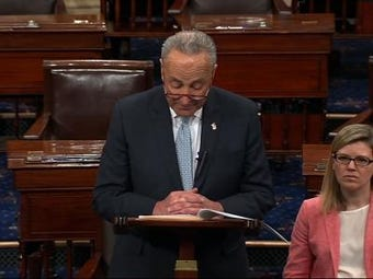 Senate Democratic Leader Chuck Schumer is trying to pass a resolution urging the public release of special counsel Robert Mueller's report. (March 26)