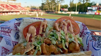 From crawfish cheese nachos to shrimp po' boys and jambalaya, there's plenty of food choices when you attend a UL Ragin' Cajuns' baseball game.