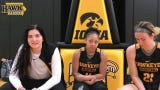 Iowa seniors Hannah Stewart, right, and Megan Gustafson, left, discuss their legacy and look ahead to the Sweet 16.
