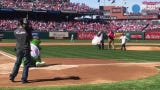 Haddon Heights student Daniel Scharff,  throws out Opening Day first pitch at Phillies game .