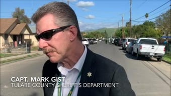 Capt. Mark Gist said deputies are working to establish a method of communication with a man who barricaded himself inside a Cutler home.