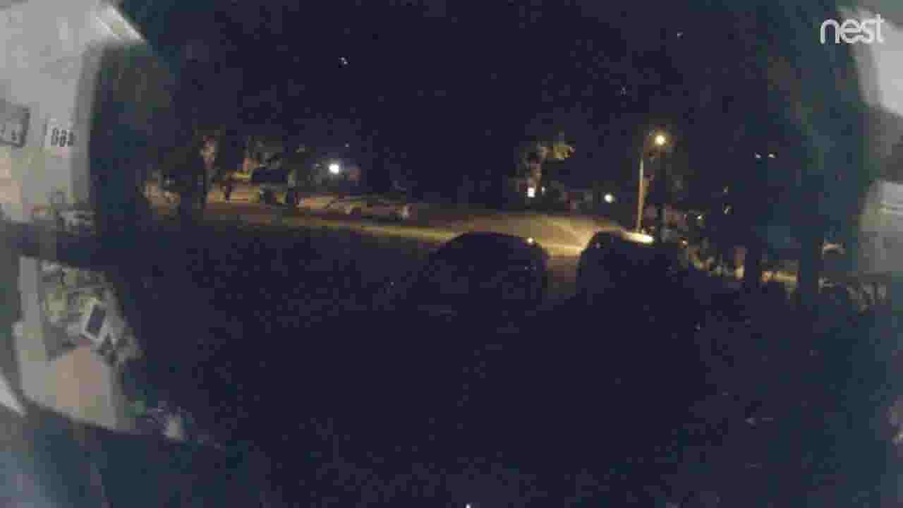 Surveillance captured the meteor in Tallahassee