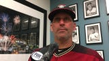 Diamondbacks manager Torey Lovullo talks about the sting of losing Sunday's series finale to the Dodgers, who scored three times in the eighth inning.