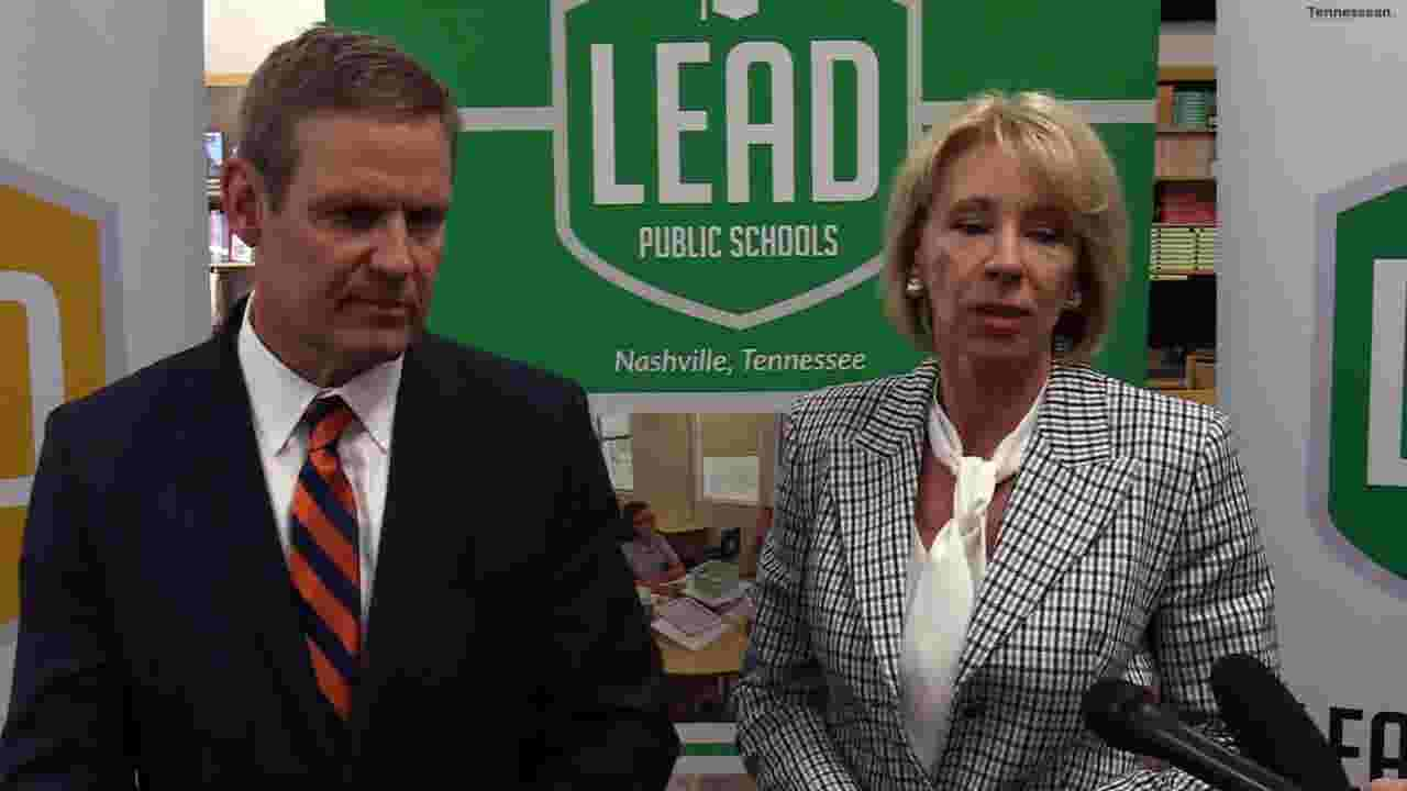 Lawmakers Call For Full Funding Of Idea >> Betsy Devos Visits Lead Academy In Nashville