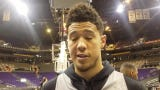 Devin Booker talks about the impact Richaun Holmes has made this season on the Phoenix Suns