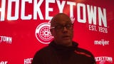 Jeff Blashill talks about Andreas Athanasiou's growth as center, wing. Filmed April 2, 2019 in Detroit.