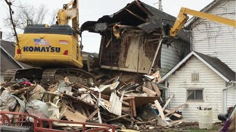 An emergency demolition in Carroll took place Tuesday.