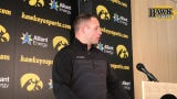 Iowa linebackers coach/assistant defensive coordinator Seth Wallace sees the potential for good things with Amani Jones in a defensive-end role.