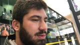 """Iowa defensive end A.J. Epenesa contrasts his """"new"""" position coach, Kelvin Bell, with the retired Reese Morgan. Hear what he says:"""