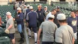 Check out the 2019 Montgomery Biscuits team during open practice Tuesday, April 2, after which they all jumped the fence and climbed into the stands to meet their fans.