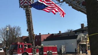 Thousands turned out to honor Sgt. Joseph P. Collette between Columbus and Lancaster on Wednesday.