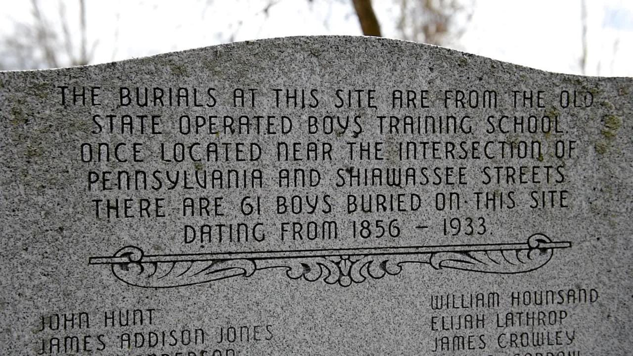 The graves of 60 boys at Mount Hope Cemetery in need of headstones