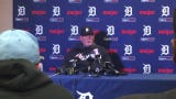 Ron Gardenhire reacts to the Detroit Tigers' Opening Day at Comerica Park win over Royals, 5-4, April 4, 2019.