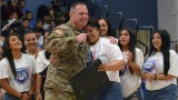 Army soldier and Las Cruces alum Jason Kidd, followed Bulldawgs state softball title run from Iraq last year. Kidd surprised the Bulldawgs on Friday