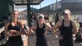Desert Mountain girls tennis player Savanna Kollock, McKenna Koenig and Josie Frazier talk playing the game since childhood and being on team together