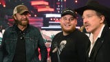 "Luke Combs joins Kix Brooks and Ronnie Dunn as they rehearse ""Brand New Man"""
