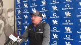 Kentucky coach Mark Stoops saw progress from his team after the third scrimmage of spring practice.