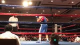 Nevada's Davis Ault boxes Friday night in the semifinals of the National Championships at the Silver Legacy in Reno.