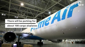 Amazon's Prime Air cargo hub at CVG will be the size of 31 Cincinnati Reds ballparks. There will be room for 100 parked planes.