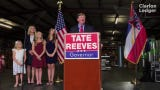 Lt. Gov. Tate Reeves held a campaign kick-off rally at his family's business, Climate Masters, in Pearl on Monday. Reeves left little doubt about who he sees as his most formidable competition: Democratic Attorney General Jim Hood. Monday, April, 8, 2019.