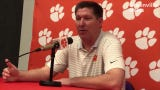 """Clemson men's basketball coach Brad Brownell shares his thoughts on transfers, explaining that it's not always a """"negative"""" thing."""