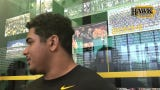 Iowa right tackle Tristan Wirfs broke Brandon Scherff's hang-clean record by completing four reps at 450 pounds in a recent max-out workout.