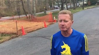 Mount Gretna resident Joseph Wentzel, 62, talks about preparing for his first Boston Marathon. He took up running 20 years ago to lose weight.