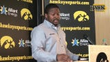 Iowa running backs coach Derrick Foster  answers questions about a run game that averaged less than 4.0 yards per pop last season.