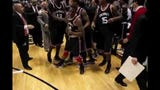 The moments during and immediately after the brawl between crosstown rivals University of Cincinnati and Xavier at the end of the Crosstown Shootout.