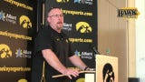 Iowa third-year OL coach Tim Polasek also breaks down the progress of some younger players like Ezra Miller, Jack Plumb and Cody Ince.