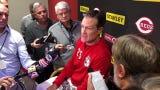 Cincinnati Reds manager David Bell talks MLB suspensions of Yasiel Puig and Chris Archer.
