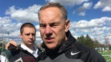 Michigan State football coach Mark Dantonio updates how the Spartans look before they went through their 12th of 15 spring practices Tuesday.
