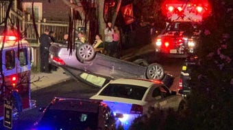 Residents recall what they saw and heard when a car flipped in their neighborhood Wednesday evening.