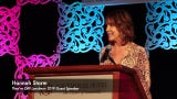 """ESPN's Hannah Storm had plenty to say as guest speaker at the 2019 Kentucky Derby Festival """"They're Off!"""" Luncheon. April 12, 2019"""