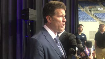 New Nevada basketball coach Steve Alford talks about taking over at Nevada, his long contract, and more.