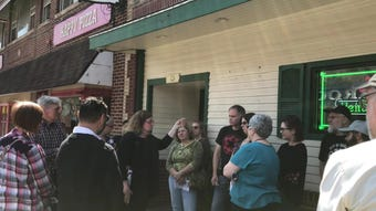 More than two dozen people came out on Saturday, April 14 for the third annual  Bound Brook Battle & Brews History Tour and Pub Stroll.
